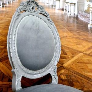 Wykonane z ogromną pieczołowitością krzesło barokowe.