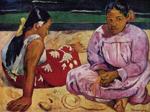 tahitańskie kobiety na plaży gaugin