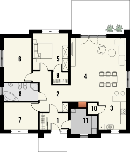 Funkcjonalne, gotowe domy parterowe.