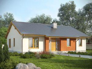 Propozycja biura Studio Krajobrazy - gotowe domy parterowe.