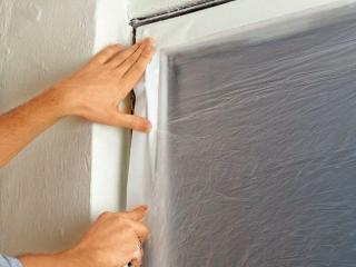 zabezpieczenie okien podczas remontu